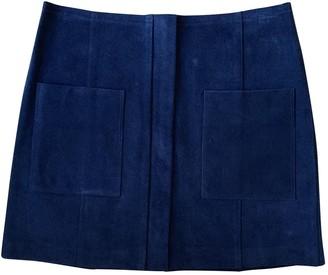 Etoile Isabel Marant Blue Leather Skirt for Women