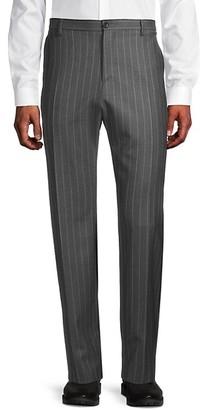 Versace Standard-Fit Pinstripe Wool Trousers