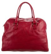 Bottega Veneta Leather Weekender Bag