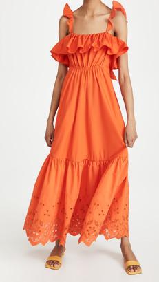 Self-Portrait Cotton Broderie Maxi Dress