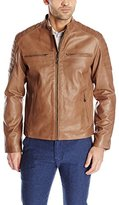 Cole Haan Signature Men's Washed Goat Ski Moto Leather Jacket