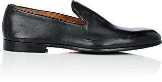 Doucal's Men's Leather Venetian Loafers - Black