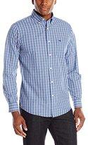 Dockers Long Sleeve Button Down Collar Spade Pocket Mini Plaid Shirt