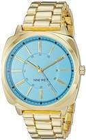 Nine West Women's NW/1752TQGB Gold-Tone Bracelet Watch