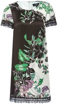 H-Line Viscose Dress With Floral Print