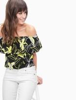 Splendid Tropic Floral Off Shoulder Top