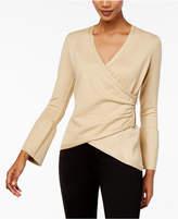 Thalia Sodi Bell-Sleeve Wrap Sweater, Created for Macy's