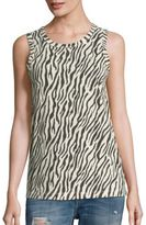 Current/Elliott Zebra Printed Muscle Tee