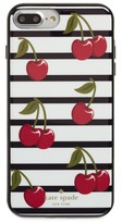 Kate Spade Cherry Stripe Iphone 7/8 & 7/8 Plus Case - White