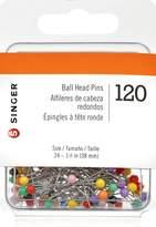Singer Ball Head Straight Pins, 120-Count
