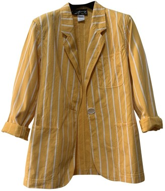 Genny Yellow Cotton Jacket for Women Vintage