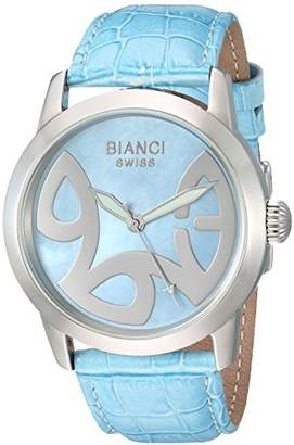 Roberto Bianci WATCHES Women's Amadeus Stainless Steel Swiss-Quartz Watch with Patent Leather Strap