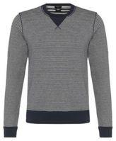 Hugo Boss Skubic Cotton Striped Sweatshirt L Blue
