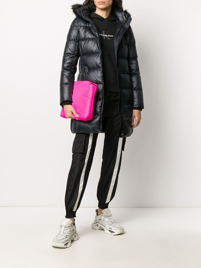 Thumbnail for your product : Calvin Klein Hooded Puffer Down Coat