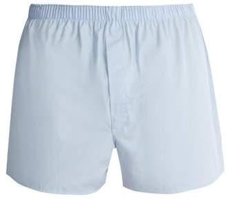 Sunspel Classic Cotton Boxer Shorts - Mens - Blue