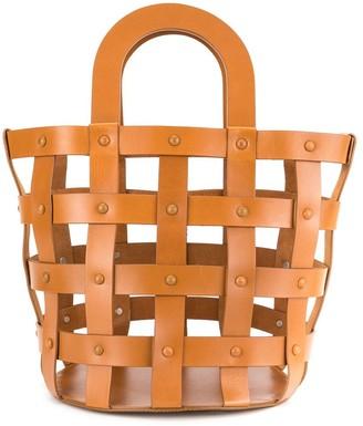 Building Block medium Woven Basket tote