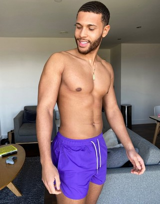 Bershka swimwear shorts in purple