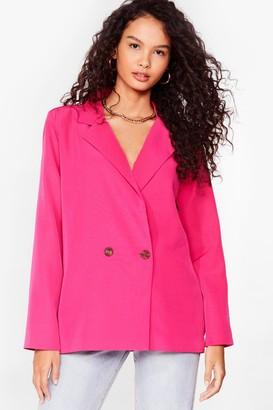 Nasty Gal Womens Top of the Agenda Oversized Blazer - Pink - 6