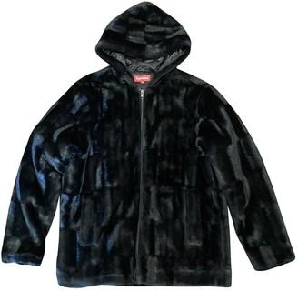 Supreme Black Faux fur Jackets