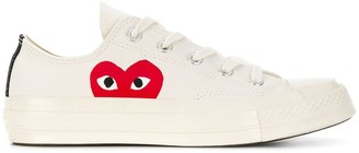 Comme Des Garçons Play X Converse Comme des Garcons PLAY x Converse heart printed flat sneakers