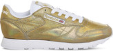 Reebok Classic metallic-leather trainers