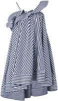 MSGM striped flared dress - women - Cotton - 38