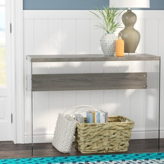 Beachcrest Home Kells Console Table Color: Dark Taupe