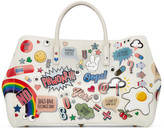 Anya Hindmarch Off-white All-over Stickers Maxi Ebury Tote