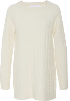 Co Cashmere Crepe Cable Knit Sweater