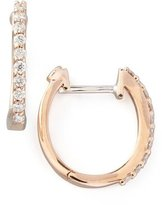 Roberto Coin 18k Rose Gold Diamond Baby Hoop Earrings