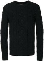 A.P.C. aran knit jumper