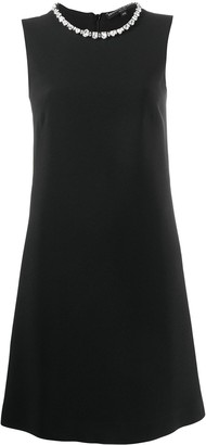 Ermanno Scervino Crystal-Embellished Sleeveless Dress