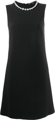 Ermanno Scervino crystal-embellished sleeveless dress