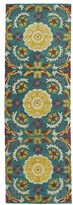 Leon Hand-tufted de Turquoise Wool Rug (2'6 x 8')