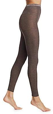 Fogal Women's Nepal Rib-Knit Footless Tights