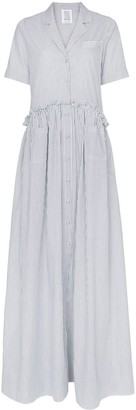 Rosie Assoulin Striped Button Down Maxi Dress