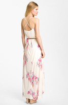 Nordstrom FELICITY & COCO Hawaiian Print Belted Maxi Dress Exclusive)