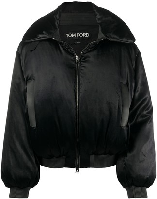 Tom Ford Padded Satin Bomber Jacket