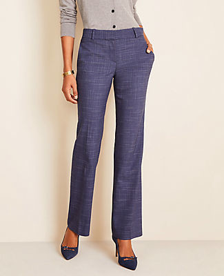 Ann Taylor The Petite Trouser Pant in Crosshatch - Curvy Fit