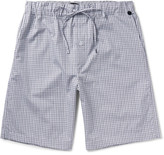 Hanro Night and Day Checked Cotton Pyjama Shorts