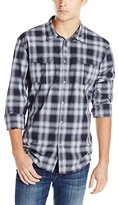 Calvin Klein Jeans Men's Blurred Plaid Button Down Shirt