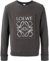 Loewe logo print sweatshirt - men - Cotton - XS