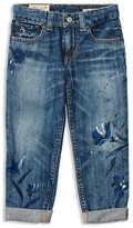 Ralph Lauren Girls' Painted Floral Boyfriend Jeans - Sizes 2-6X