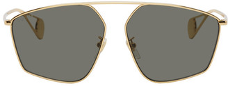 Gucci Gold Evolution Oversized Sunglasses