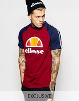 Ellesse Ellesse Raglan T-shirt With Taping - Red