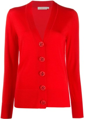 Tory Burch Button-Up V-Neck Cardigan