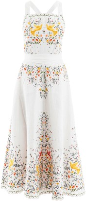 Zimmermann Carnaby Long Dress With Birds Embroideries