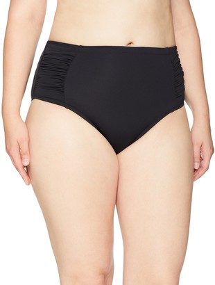 Jessica Simpson Women's Plus Size High Waist Bikini Bottom
