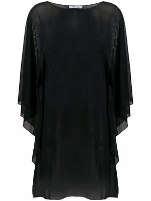 Fisico Cristina Ferrari Black Sheer Tunic Top