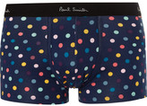 Paul Smith Polka-dot Stretch-cotton Jersey Boxer Briefs - Navy